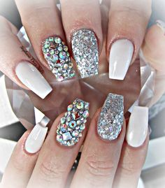 coffin nails | silver nails