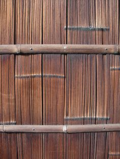 Bamboo Wall by Diorama Sky, via Flickr You see this a lot in Indonesia, both in house construction and in furniture. I love the look!