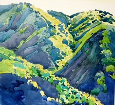 5 o clock shadow robin purcell , watercolors in the plein air tradition She has super bold colors. Watercolor Landscape, Landscape Art, Landscape Paintings, Watercolor Paintings, Club D'art, Art Club, Erin Hanson, California Art, Paintings I Love