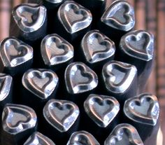 SASSY Heart design stamp for silver stamping and charm by Romazone, $8.98