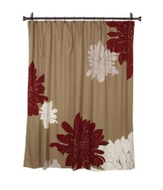 Walmart Maytex Meridian Fabric Shower Curtain Red Brown And Tan