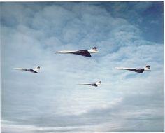 British Airways : vol en formation de Concorde