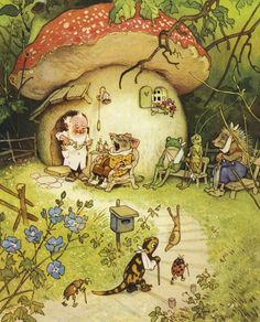 """Doctor Illustration from 'Nicky and His Forest Friends"""""""