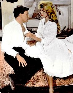 """meganmonroes: """"""""Jean Louis Trintignant and Brigitte Bardot in And God Created Woman (1956) """" """""""