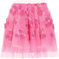 ShopStyle: Marc Jacobs Embroidered tulle mini skirt