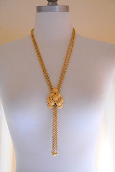 Crown Trifari Gold Lariat Tassel Vintage by InspirationVintage, $38.00