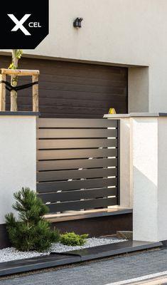 all idea inspiration design interior and exterior home modern decor House Fence Design, Home Door Design, Fence Gate Design, Modern Fence Design, Front Gate Design, Wall Exterior, Dream House Exterior, Exterior Design, Metal Garden Gates