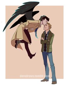 Credit: dorodraws.tumblr.com Dean and Castiel. When I want to smile, I'll look at this.