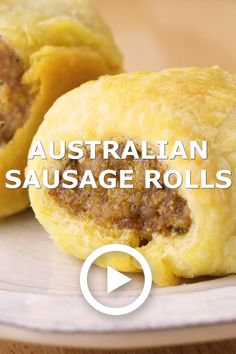 Australian Sausage Rolls are a seasoned sausage wrapped in a flaky, buttery pastry. They are delicious for breakfast, lunch, or dinner, or as an appetizer. Aussie Food, Australian Food, Australian Recipes, Brunch Recipes, Appetizer Recipes, Breakfast Recipes, Breakfast Appetizers, Sausage Appetizers, Homemade Sausage Rolls
