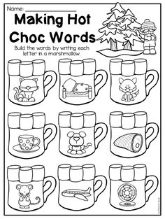 Free Write The Missing Sounds Holiday Worksheet. Write the