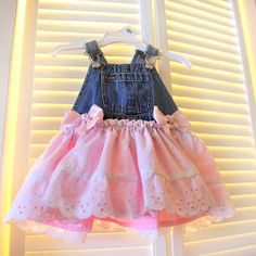 Overall Tutu Dress Girls Cowgirl Outfit Rodeo by BailynnBouNique, $34.95