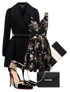 """""""Sem título #177"""" by manumedrado ❤ liked on Polyvore featuring Forever New, MICHAEL Michael Kors, Mela Loves London and Christian Louboutin"""