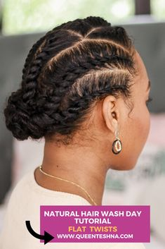 Protective Styles For Natural Hair Short, Natural Hair Flat Twist, Natural Hair Braids, Natural Hair Styles, Natural Protective Hairstyles, Flat Twist Updo, Flat Twist Hairstyles, Easy Hairstyles, Simple Natural Hairstyles