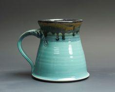 Handmade pottery coffee mug stoneware teacup by BlueParrotPots
