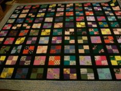 QUILT TOP HOMEMADE BY ME---MEASURES 81X95 (THIS IS NOT A FINISHED QUILT--TOP ONL