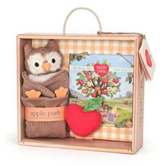 Who The Owl Blankie, Book & Rattle Gift Crate. Easy gift idea! 25% OFF YOUR ENTIRE PURCHASE. Code: CYBER25