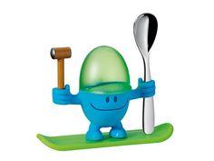 Kieliszek na jajko z łyżeczką WMF Mc Edition Blue/Green/Silver