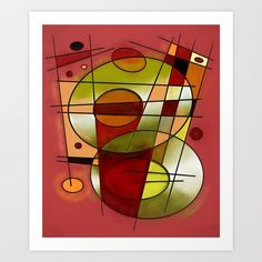 #752 is a geometric abstract expressionist design by Rockett Graphics. https://society6.com/product/abstract-752_print?curator=christinebssler