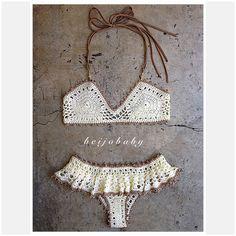 Lolita bikinicustom crochet bikini от beijobaby на Etsy