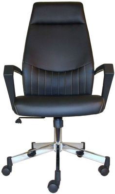 Alphason Brooklyn Black High Back Faux Leather Office Chair - AOC3122HB-BLK 18b8ace036e88