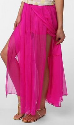 Sparkle & Fade Chiffon Maxi Skirt (Urban Outfitters, $89)