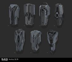 ArtStation - Various props for Halo 5 Guardians, Sam Brown