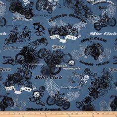 Retro Rider Motorcycles Blue