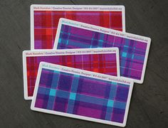 Purple name card