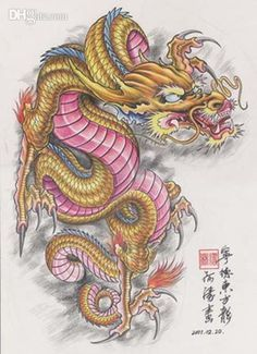 water color tattooes dragon chinese | The Dragon Tattoo Art Book ...
