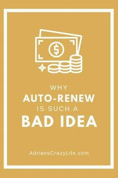 Auto-Renewing payments is a great idea for the companies you do business with, but it's a terrible idea for your budget. Here are some thoughts on how you can get around these payment schemes. Money Saving Meals, Best Money Saving Tips, Money Savers, Money Tips, Just Say No, Are You The One, Parenting Teens, Parenting Hacks, Debt Snowball Spreadsheet