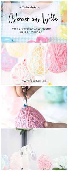 Easter Eggs do it Yourself – Meine einfache Anleitung zum Basteln für Ostern f… Easter Eggs do it Yourself – My simple Easter crafting tutorial for Easter eggs made from wool as a pretty Easter decoration. Just make Easter decoration… Continue reading → Easter Presents, Easter Gift, Easter Crafts, Mason Jar Crafts, Mason Jar Diy, Bottle Crafts, Diy Gifts For Kids, Crafts For Kids, Craft Tutorials