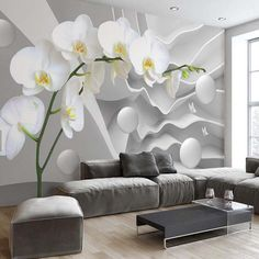 Find More Wallpapers Information about 3D Abstract Photo Mural Wallpaper flower Circle Ball Wall Paper for Living Room TV Background Wall Decor Butterfly Orchid Murals,High Quality wall paper,China orchid murals Suppliers, Cheap flower circle from JR Wall Art Store on Aliexpress.com