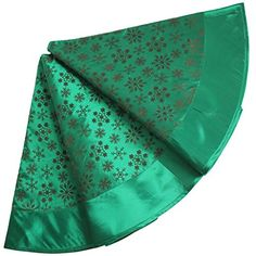 SORRENTO Extra Large 50 Flocking Green Colored Christmas Tree Skirt Snowflake Design Tree Skirt50 ** Check out the image by visiting the link.