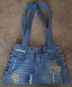 Denim Beach Tote Bag from Repurposed by RuthsGreenTreasures, $32.00 Eco friendly and stylish at the same time