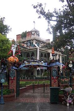 To See The Nightmare Before Christmas Decorations At The Haunted Mansion At Disneyland