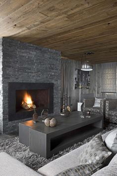 Luxury Living Room Interior Design In The French Alps Photography By Serge Anton. 2013 Trend...Greige