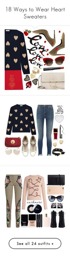 """""""18 Ways to Wear Heart Sweaters"""" by polyvore-editorial ❤ liked on Polyvore featuring waystowear, heartsweaters, Chloé, Christopher Kane, Chinti and Parker, Maria Francesca Pepe, Dolce&Gabbana, NARS Cosmetics, Marc Jacobs and J Brand"""