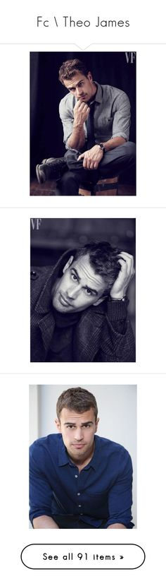 """""""Fc \\ Theo James"""" by purplexlittlexbear ❤ liked on Polyvore featuring theo james, males, people, divergent, boys, pictures, actors, photos, theo and four"""
