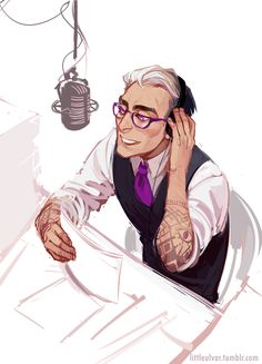 Cecil Baldwin of Welcome to Night Vale, as imagined by its fandom, often quite resembles Doc Hammer.