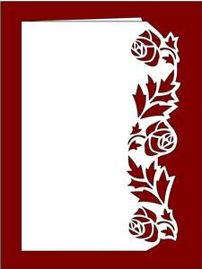 Over the Edge Floral Border 2 - SVG