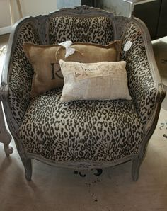 The Enchanted Home leopard chair Animal Print Furniture, Animal Print Decor, Animal Prints, Sofa Chair, Armchair, Chair Cushions, Leopard Chair, Vignette Design, Enchanted Home