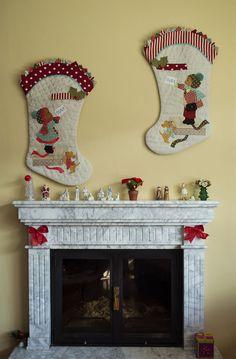Botas de Navidad patchwork