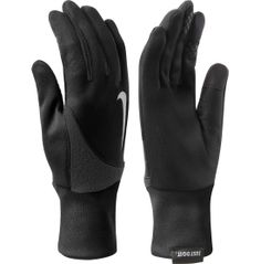 You love to run in any weather, so ensure you're outfitted with the equipment you need with the Nike® Solid Element Thermal 2.0 Gloves. Crafted from Therma-FIT® fabric, these gloves are designed to keep you warm and insulated, even in inclement weather. Conductive thumb and forefinger tips allow you to stay warm while keeping in contact with one touch of your finger.