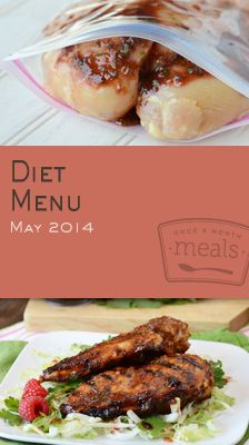 Diet May 2014 Menu | OAMC from Once A Month Meals | Freezer Cooking | Freezer Meals