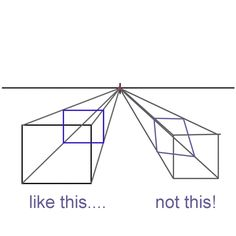 Draw in Perspective with 10 Easy Tips: Continuing to Construct the Box in One Point Perspective