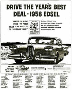 1958 Ford Edsel advert