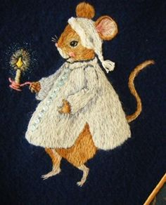 Image of Manor Mouse with Cashmere (62 x 76cm)