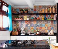 Плиточный пэчворк в современном интерьере - Ярмарка Мастеров - ручная работа, handmade