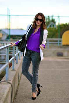 Purple haze button up with tuxedo jacket...amazing