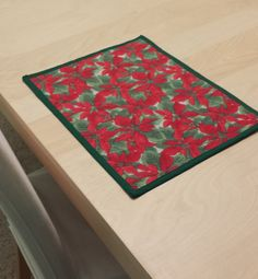 Christmas Poinsettia Placemats $1.25 each on Etsy